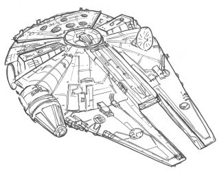 Millenium Falcon by NadAlei