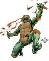 Mikey TMNT in color by MatiasSoto
