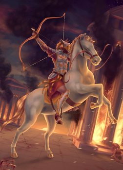Conquest, First Horseman of the Apocalypse by YorieOfTheCastle