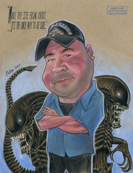 Caricature with Giger Aliens! by PaulPhillips
