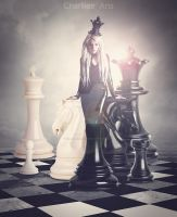 Queen of chess by CharllieeArts