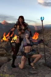 The barbarienne and the sorceress by deepred6502