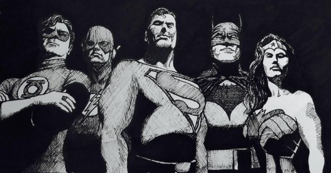 The Justice League by Penn1ng