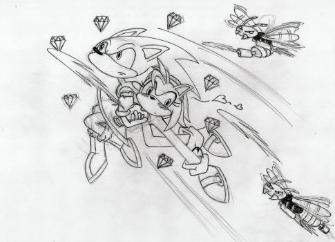 Sonic rescues the Rose by TrinityBurst