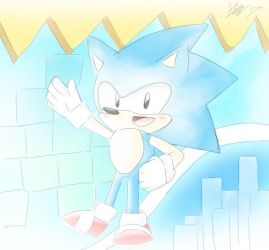 CLASSIC SONIC!!!! by sarahlouiseghost