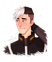 VLD request - Shiro blushing by ameloodrawing-s