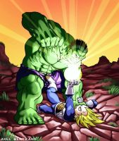 Hulk vs Vegeta by shadowstheater