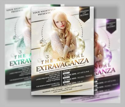 New Years Flyer Template x2 PSD files by Jay5204