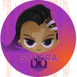 ::Overwatch Button:: Sombra by shiorimaster