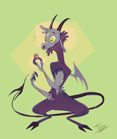 The Jersey Devil and the not Deviled Egg by TeaDino