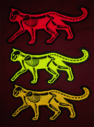 NEW Traffic Safety X-ray cat ~ Embroidered patches by CyanFox3