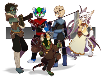 [Commission] Team Anoliax by Eaglidots