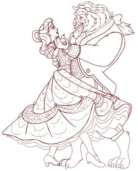 Beauty and the Beast Viennese Waltz ~ Rough by LisaGunnIllustration