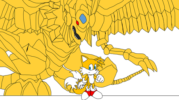 Tails and the Winged dragon of Ra by Amazingangus76