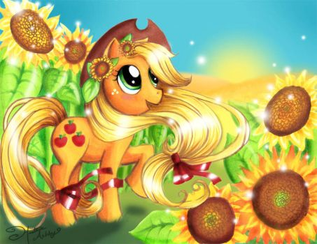 Shimmering Summer Applejack by For-He-who-is-grand