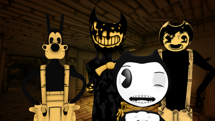 BENDY AND THE INK MACHINE CHAPTER 1 AND 2 GAMEPLAY by waleedtariqmmd