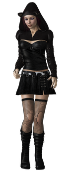 Gothic Girl I by SuicideOmen