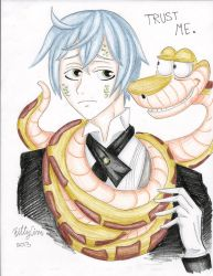 Snake and Kaa by TheUndertakersKitty