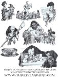 Harry Potter: Book 2 Chapter 7 Vignette Drawings by TheGeekCanPaint