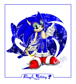 Sonic the Hedgehog 3D style by Shaylo-Artistry