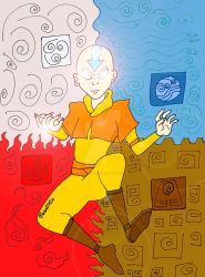 Aang in Avatar State by GabyCoutino