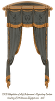 1815 French Curtain - Jet by EveyD