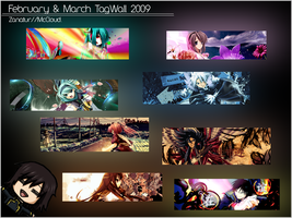 February and March Gfx Tagwall by ZanatuR