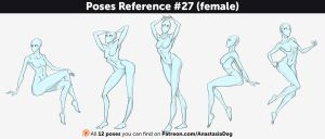Poses Reference #27 (female) by Anastasia-berry