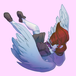 Falling Commission by aruva-chan
