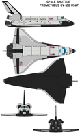 Space shuttle Prometheus OV-120 USAF by bagera3005
