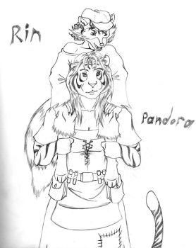 Rin and Pandora by cbs