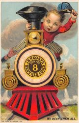 Victorian Advertising - Spool Train by Yesterdays-Paper