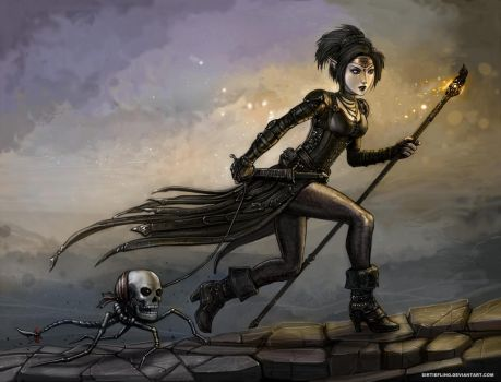 Necromantic Stroll by SirTiefling