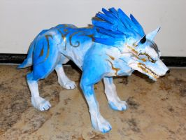 God of Frost - Paper Sculpture by happylilsquirrel