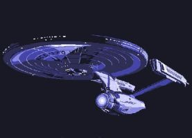 Star Trek Enterprise Paint By Number Art Kit by numberedart