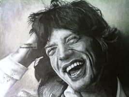 'Mick Jagger' - (Drawing) - 2013 by Stevegillettart