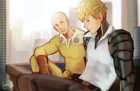 rooftop chatting by loonytwin