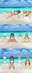 Nude workout on the beach by jpop52