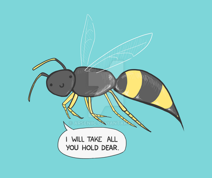 The Amiable Wasp by arseniic