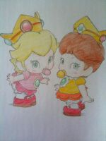 Baby Peach and Baby Daisy by ViralJP