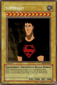 +Young Justice Cards+ Superboy by phoenixtsukino