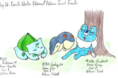 26 - My Favorite Starters by Hitomi-chan666