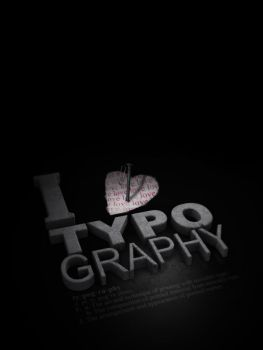 I Love Typography by 3rror404