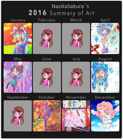 2016 Summary of Art by NasikaSakura