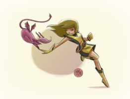 Kitty Pryde and Lockheed by mikemaihack