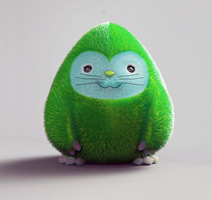 Zbrush Doodle: Day 1148 - Smooshy green critter by UnexpectedToy