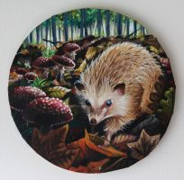 Autumn Hedgehog by liesbethtatjana