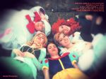 Fairy Godmother and the Disney Princesses II. by pearlANDblood