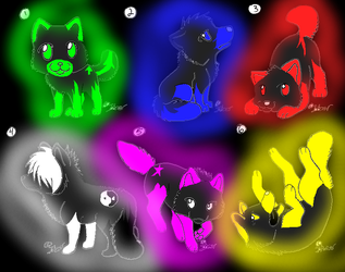5 point wolf adoptables by Points-from-me-2-U