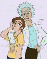97 years rick and morty by flyttadig